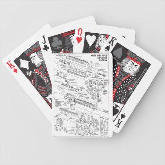 AR-15 estalló la cubierta Baraja Cartas De Poker