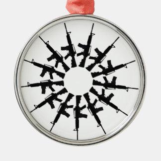 AR-15 Gun Weapon Kaleidoscope  Design Metal Ornament