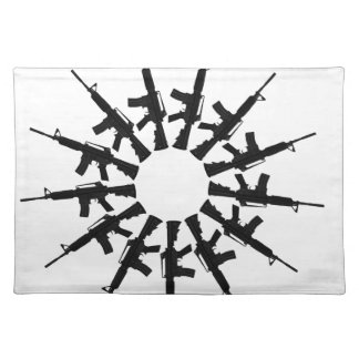 AR-15 Gun Weapon Kaleidoscope  Design Placemat