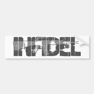 AR-15 INFIDEL Gun Rights Pro American Bumper Sticker