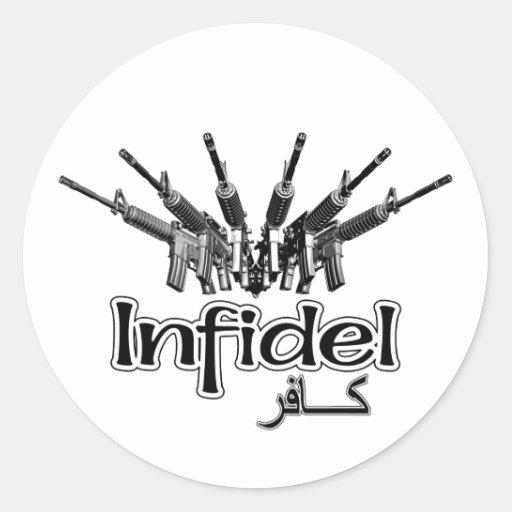 AR-15 Infidel Round Stickers