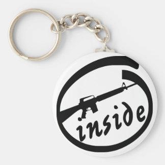 AR-15 Inside Basic Round Button Keychain