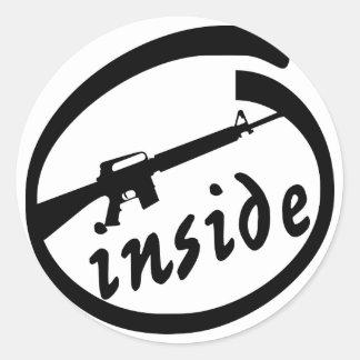 AR-15 Inside Classic Round Sticker
