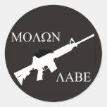 AR-15 Molon Labe Etiquetas Redondas