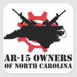 AR-15 Owners of North Carolina Square Sticker