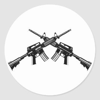 AR-15 PEGATINA REDONDA