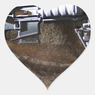 AR-15 Tactical Heart Sticker