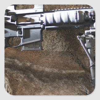 AR-15 Tactical Square Sticker
