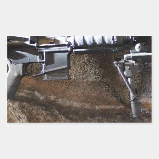 AR-15 táctico Pegatina Rectangular