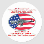AR-15 What Part Of Shall Not Don't You Understand Round Stickers