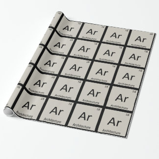 Ar - Architecture Chemistry Periodic Table Symbol Gift Wrap