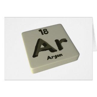 Ar Argon Greeting Card