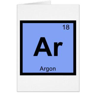 Ar - Argon Chemistry Periodic Table Symbol Greeting Card