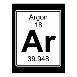 Ar - Argon Postcard
