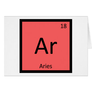 Ar - Aries Zodiac Chemistry Periodic Table Symbol Card