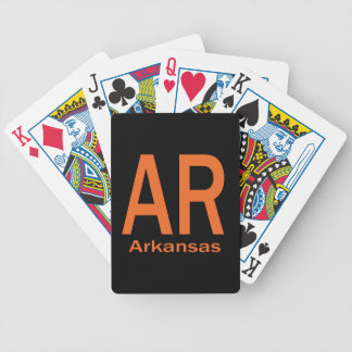 AR Arkansas plain orange Bicycle Playing Cards