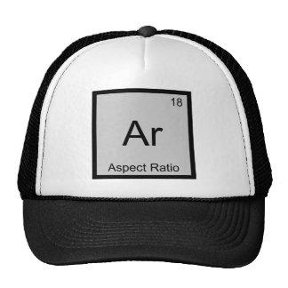 Ar - Aspect Ratio Funny Chemistry Element Symbol T Trucker Hat