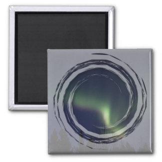 AR Aurora Reaching 2 Inch Square Magnet