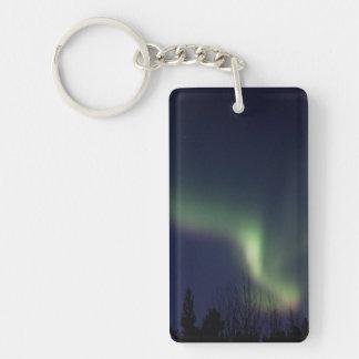 AR Aurora Reaching Single-Sided Rectangular Acrylic Keychain