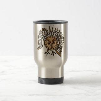 AR- Awesome Owl Abstract Art Travel Mug
