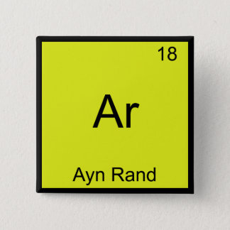 Ar - Ayn Rand Funny Chemistry Element Symbol Tee Button
