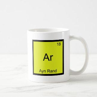 Ar - Ayn Rand Funny Chemistry Element Symbol Tee Classic White Coffee Mug