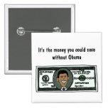 AR botón político anti divertido de Obama Pins