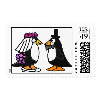 AR franqueo del boda del pingüino
