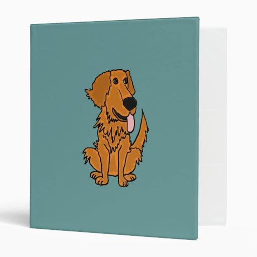 AR- Funny Golden Retriever Dog Binder