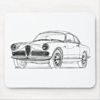 AR Giuletta Sprint Bertone 1954 Mouse Pad