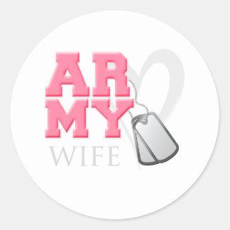 AR-MY Wife Classic Round Sticker