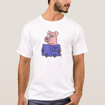 AR- Pig Reading How to Fly Book T-Shirt