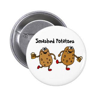 AR- Smashed Potatoes Cartoon Button