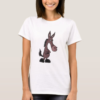 AR- Stubborn Mule or Donkey Cartoon T-Shirt