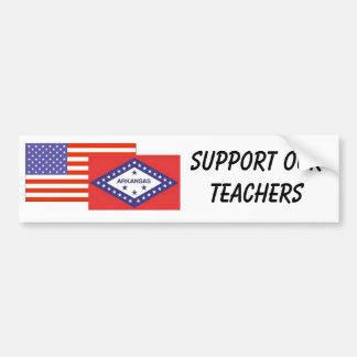 AR--Support Our Teachers Car Bumper Sticker