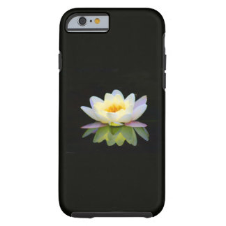 ARA ARTIST iPhone 6 case - WHITE LOTUS ON BLACK