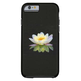 ARA ARTIST iPhone 6 case - WHITE LOTUS ON BLACK