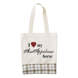 AraAppaloosa horse Zazzle HEART Tote Bag