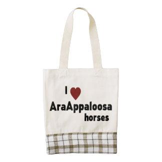 AraAppaloosa horses Zazzle HEART Tote Bag