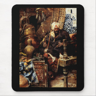 Arab Dealer Among His Antiques Mouse Pad
