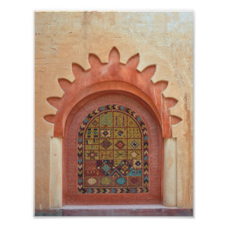 arab decoration architecture archway morocco islam poster