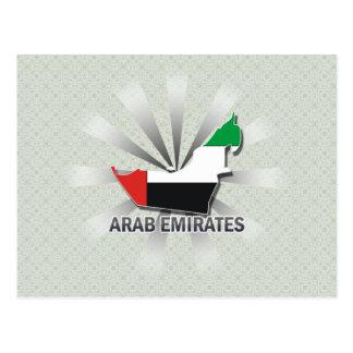 Arab Emirates Flag Map 2.0 Postcard