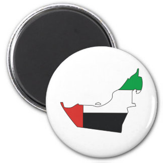 Arab Emirates Flag Map full size 2 Inch Round Magnet