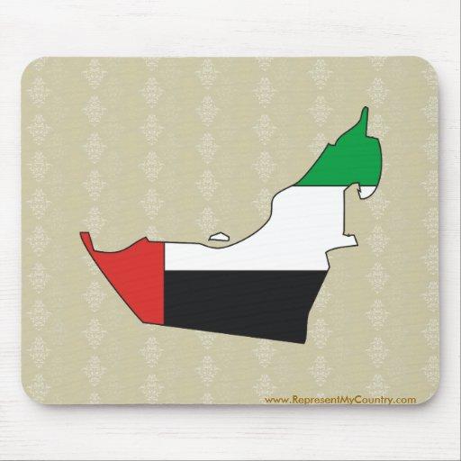 Arab Emirates Flag Map full size Mousepads