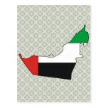 Arab Emirates Flag Map full size Postcards
