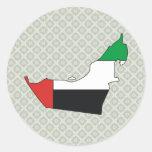 Arab Emirates Flag Map full size Sticker