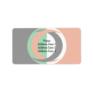 Arab European League, Belgium flag Address Label