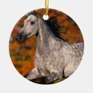 Arab Horse: Autumn 1 Double-Sided Ceramic Round Christmas Ornament