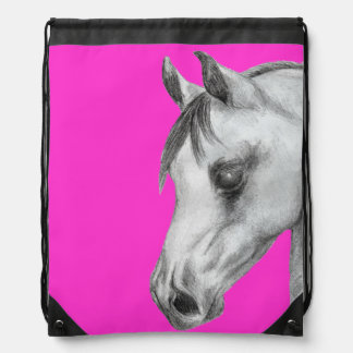 Arab horse drawstring backpack