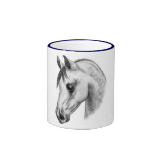 arab horse head mugs